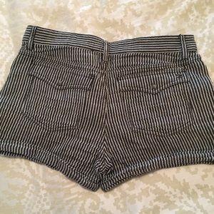 Joe's Jeans Shorts - Joe's Jeans Striped Linen Shorts w/ Metal Studs